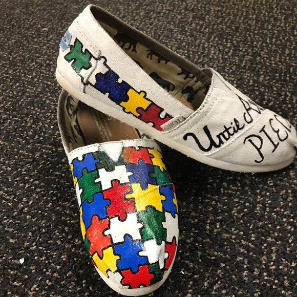 44f3ad51cdeab2 Custom made Autism Awareness Toms